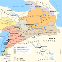 map of the Armenian Empire
