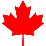 red Canadian maple leaf