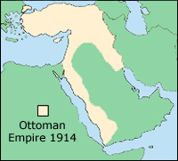 map of ottoman empire 1914