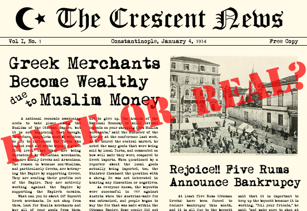 Real or Fake News Against Greek Merchants?