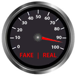 real or fake news odometer showing Real News