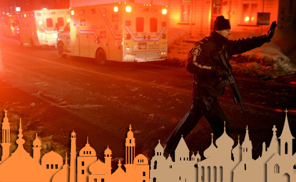 Terrorism on mosque in Quebec, Canada