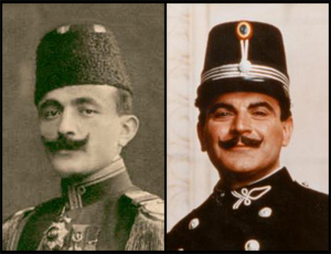 Enver Pasha and David Suchet as Hercule Poirot