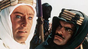 Lawrence (O'Toole) and Sherif (Sharif)