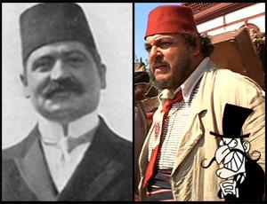 Talat Pasha + John Rhys-Davies + Snidely Whiplash