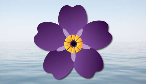 forget-me-not symbol of Armenian Genocide