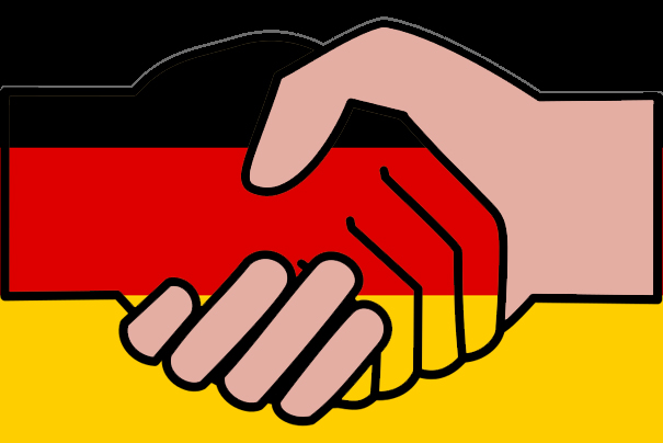 Handshake with German flag