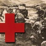 Trench Warfare in Turkey circa 1920 with Red Cross symbol