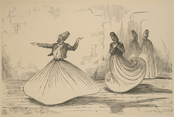 Whirling Dervishes by Augustus Hoppin, 1874