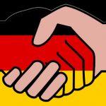 Handshake with German flag