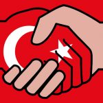 Handshake with Turkish flag